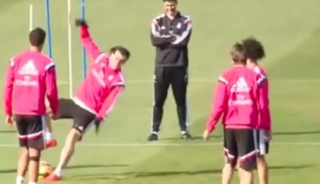 Gareth Bale red-faced after ultimate fail in Real Madrid training