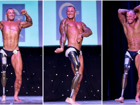 Amputee army veteran beats the odds to become competition-winning body builder