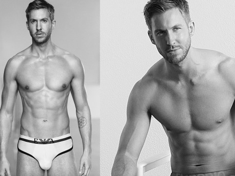 Calvin Harris's new Armani underwear ads are almost to much to handle