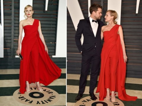 Diane Kruger wore a red jumpsuit to the Vanity Fair Oscars after-party and it was better than everything else