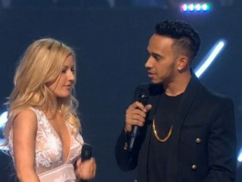 Brit Awards 2015: 'The most awkward presenters award goes to Ellie Goulding and Lewis Hamilton'