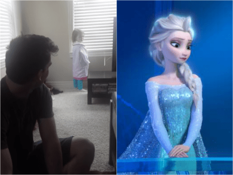 This kid hates Frozen and DOES NOT want to build a snowman