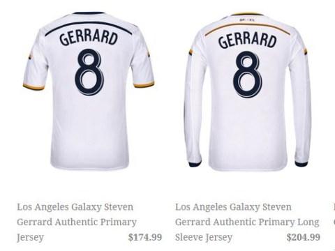 Steven Gerrard's LA Galaxy shirt will set fans back an eye-watering £114