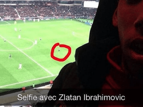 Worst selfie ever? PSG fan tries to pass off picture 'with' Zlatan Ibrahimovic