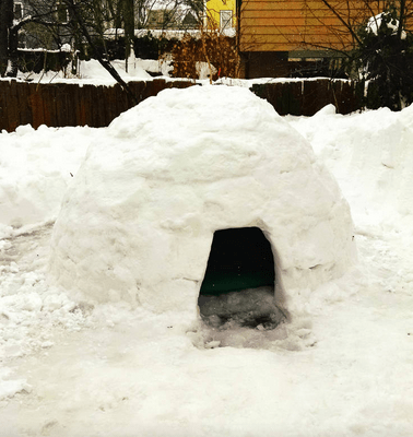 The igloo sleeps one, or two if you curl up (Picture: Airbnb)