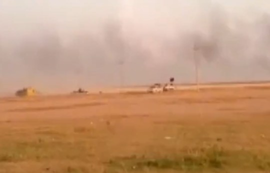 The ISIS convoy heads ever closer to the home (Picture: LiveLeak)