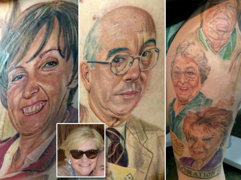 This woman is a REALLY big Coronation Street fan – with massive colour tattoos to prove it
