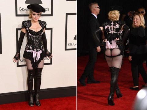 Oh, it's just Madonna dressed like a sparkling matador with her bum out at the Grammys