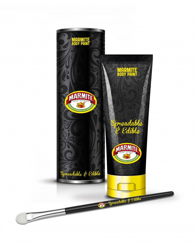 Marmite body paint - spreadable and edible