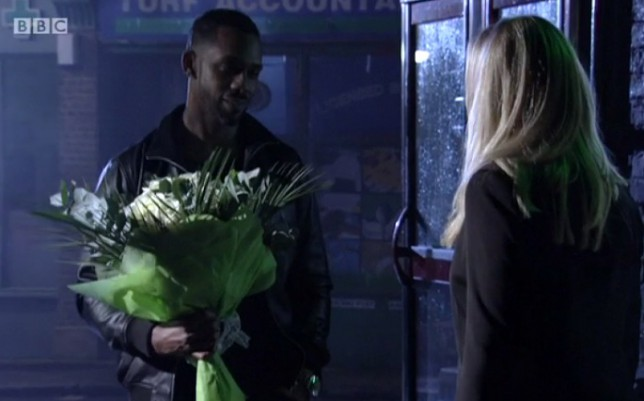 Richard Blackwood and Samantha Womack in EastEnders