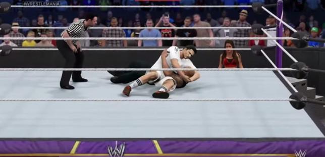 Cristiano Ronaldo takes on Dwayne 'The Rock' Johnson in brilliant WWE 2K15 Wrestlemania match