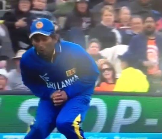 Jeevan Mendis suffered more than most when dropping a catch (Picture: Vine)
