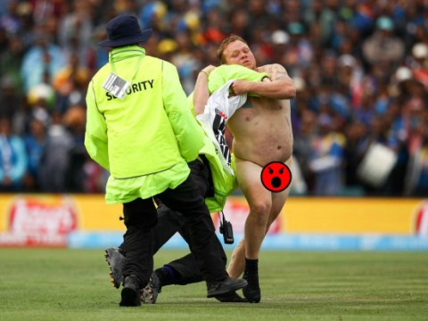 What a balls-up! Cricket World Cup opening games are interrupted by both a streaker and pitch invader