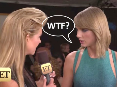 Taylor Swift totally shuts down reporter who tells her she'll be going home with 'lots of men'