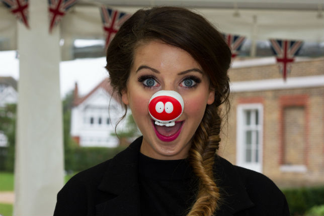 Zoella on the Great Comic Relief British Bake Off 2015