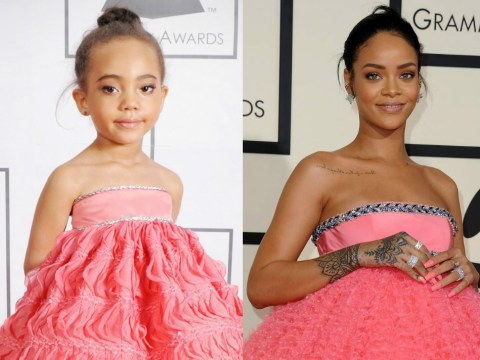 Adorable kids recreate Kimye, Rihanna and other memorable celebrity looks from the Grammys 2015