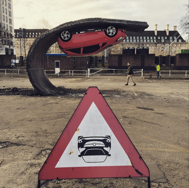 And you thought your parking was pretty neat (Picture: Matthew Fletcher-Jones)