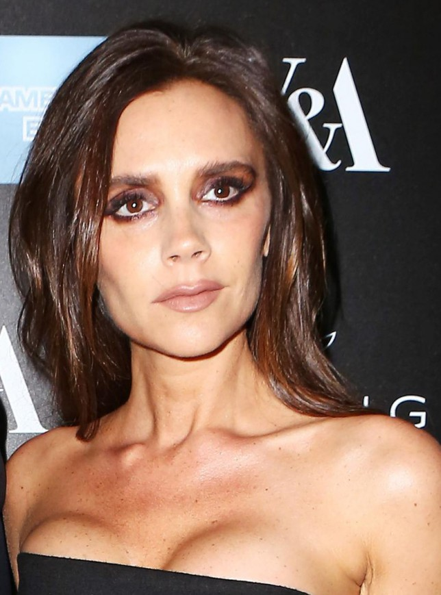 Victoria Beckham suffers a rare makeup fail with too much contouring and Black Swan style eyes