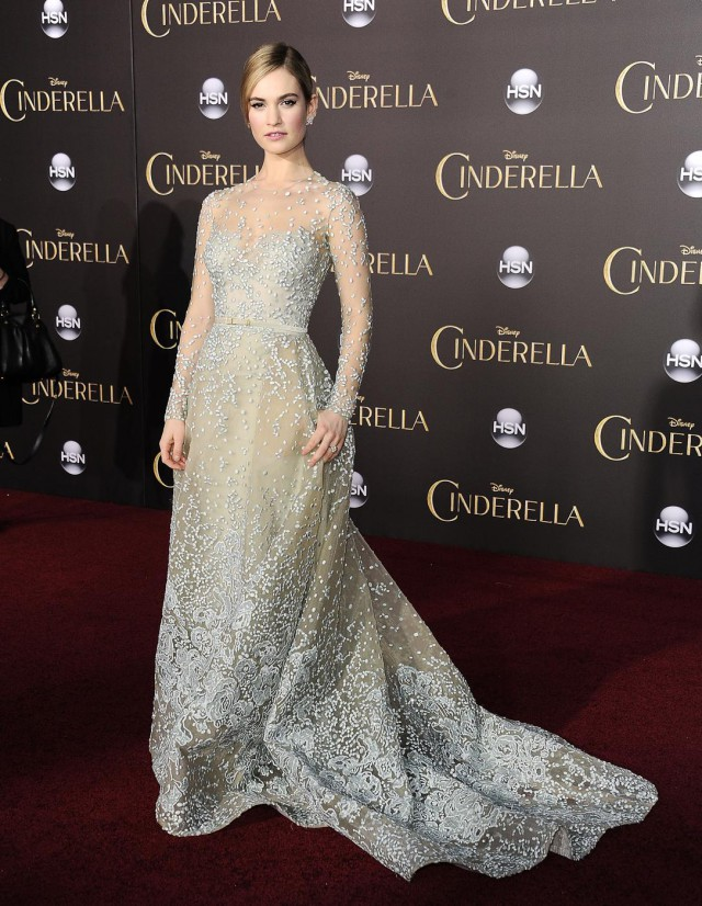 Downton Abbey's Lily James transforms into real life princess for spectacular Cinderella premiere