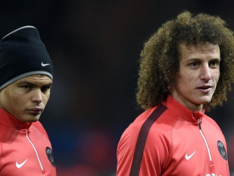 David Luiz and Thiago Silva kid lookalikes emulate PSG stars by donning French club's kit