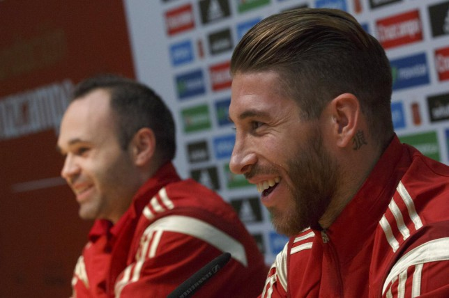 Sergio Ramos: It's a shame Andres Iniesta doesn't play for Real Madrid