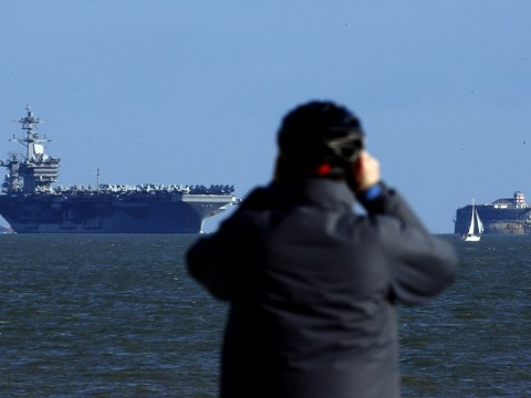 Too big for the dockyard: Giant US aircraft carrier weighs 100,000 tonnes and is longer than The Shard