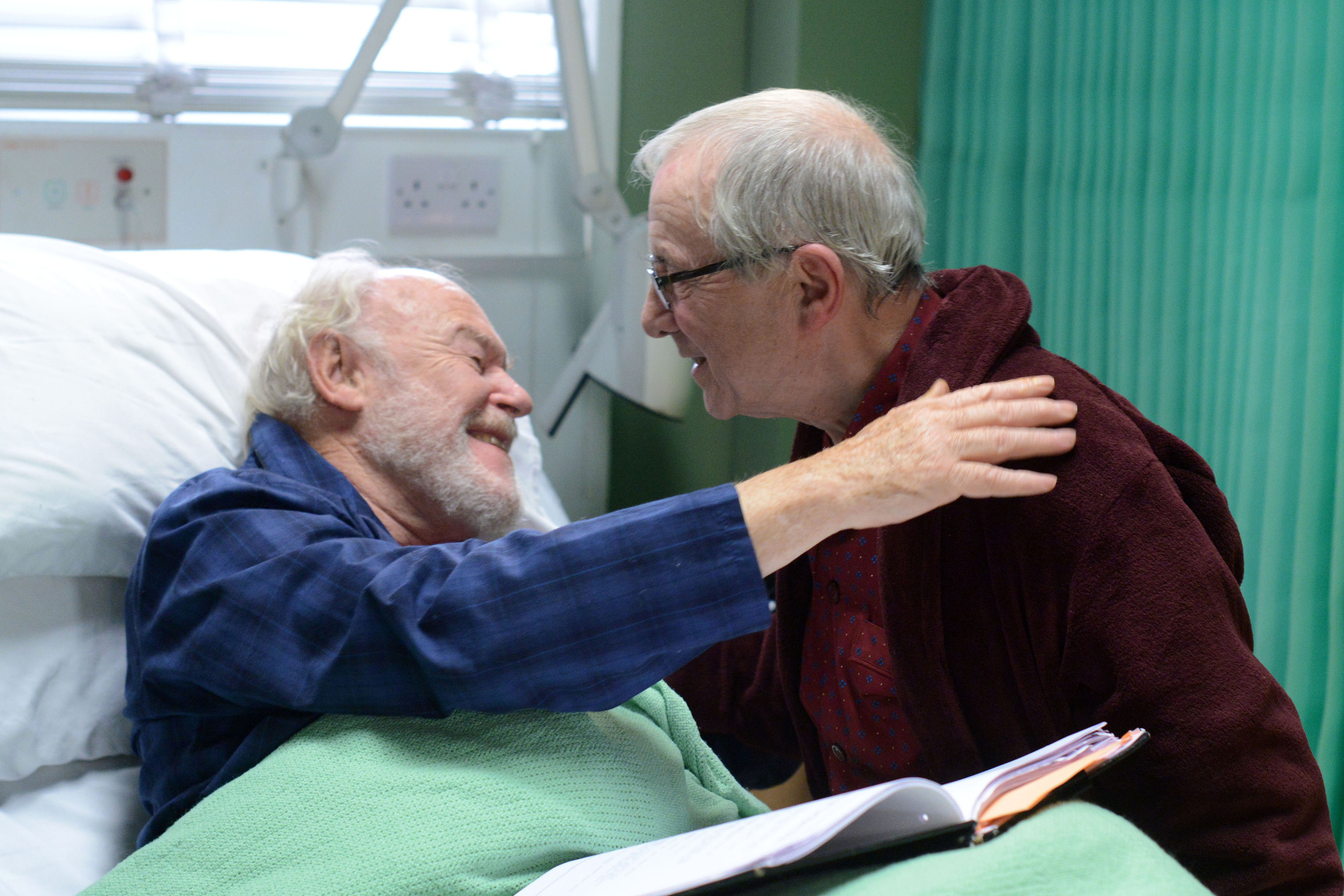 EastEnders spoilers: First pictures of Andrew Sachs on set as part of emotional Stan Carter death storyline
