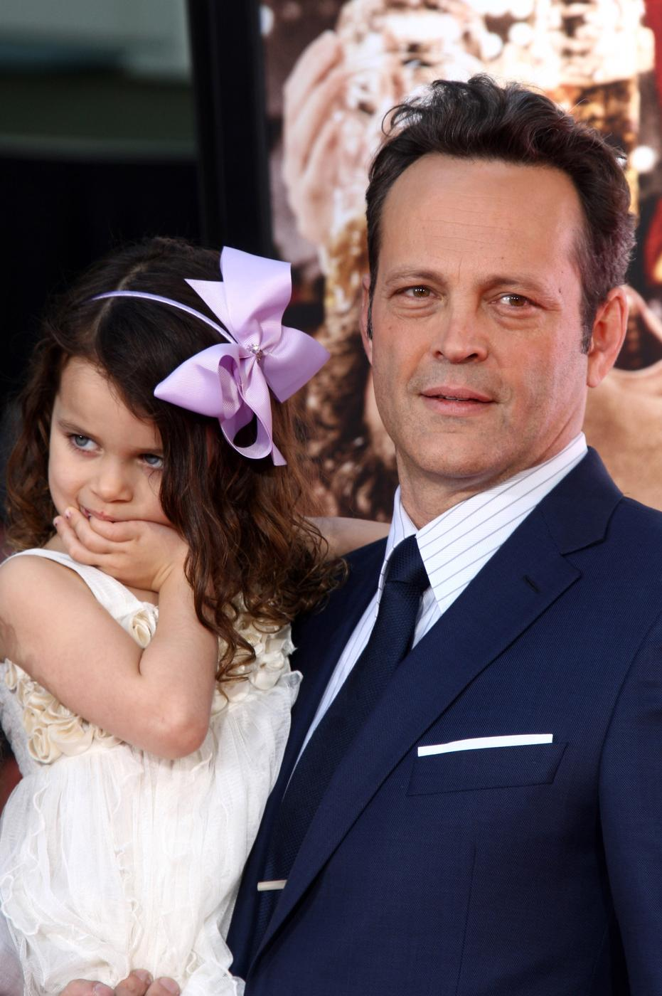 Vince Vaughn with daughter Locklyn