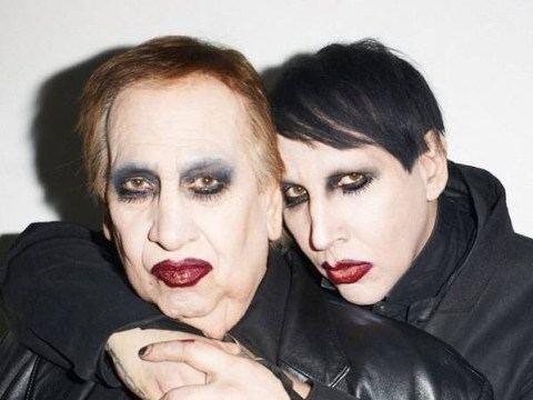 Marilyn Manson's dad surprises him on photoshoot dressed as him