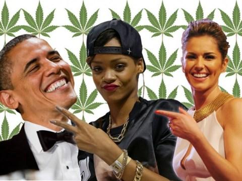 From Cheryl Fernandez-Versini to Rihanna, quite a few celebrities have smoked cannabis