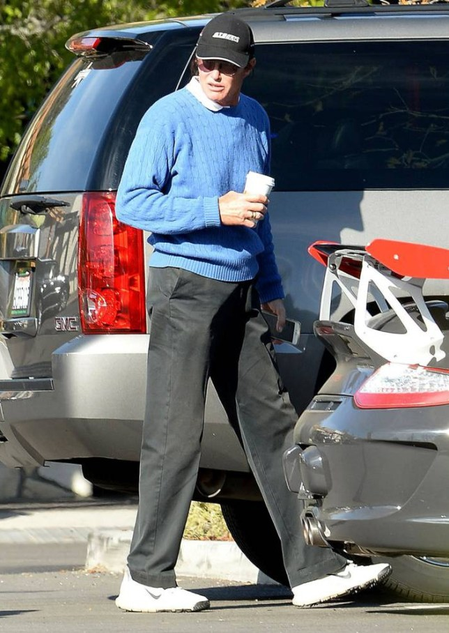 Mandatory Credit: Photo by Broadimage/REX (4490835b)  Bruce Jenner  Bruce Jenner out and about, Los Angeles, America - 04 Mar 2015  Bruce Jenner gets coffee at Starbucks in Westlake Village