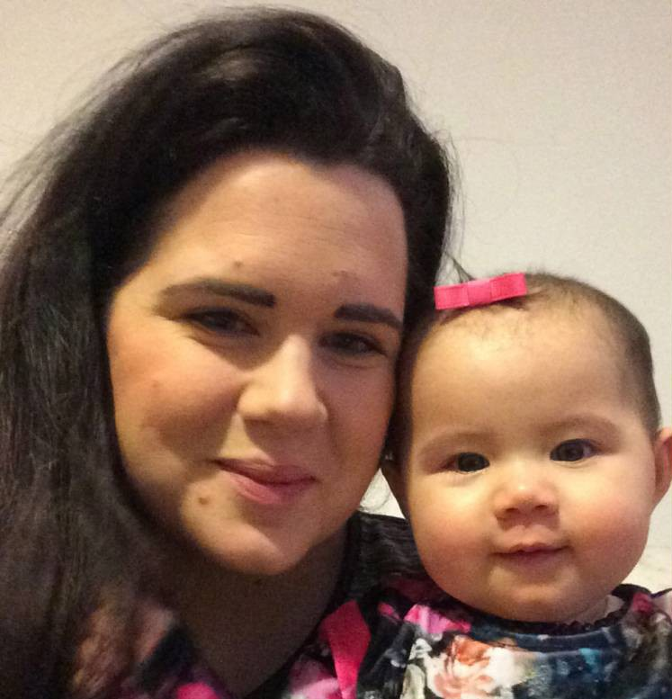 INS News Agency Ltd..05/03/2015 A breastfeeding mother on an easyJet flight was outraged after a flight attendant told her to cover up for fear of offending other passengers. Mum-of-two Gemma Leung, 27, was preparing to feed eight-month-old Ruby-Bow when she was warned off doing so. The airline has publicly apologised for the incident. Pictured: Gemma and Ruby-Bow. See copy INSeasy