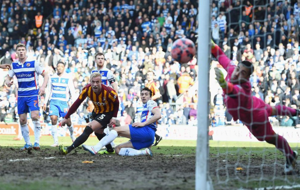 Bradford City's pitch branded 'Sunday League' on Twitter during FA Cup clash with Reading