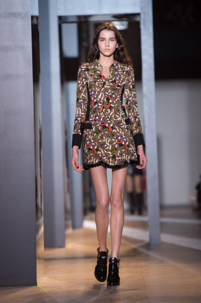 08 Mar 2015, Paris, France --- A Model walks the runway during the John Galliano show as part of the Paris Fashion Week Womenswear Fall/Winter 2015/2016 on March 8, 2015 in Paris, France. --- Image by © Stephane Cardinale/Corbis