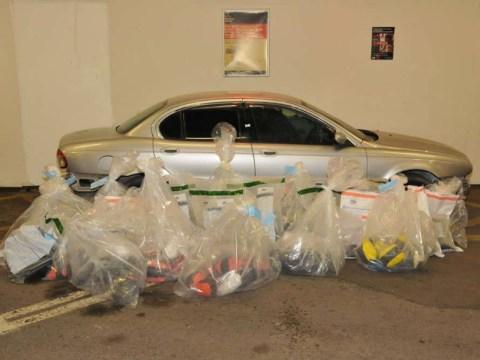 Police found £37 million worth of drugs inside customised Jaguar