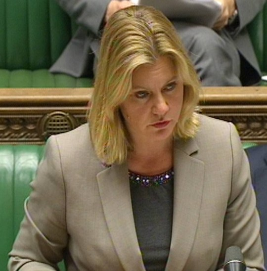 Development Secretary Justine Greening makes a statement in the House of Commons, London, announcing that Queen Elizabeth II has signed off on plans to award a special medal to Britons who have helped in the fight back against Ebola in Sierra Leone. PRESS ASSOCIATION Photo. Picture date: Thursday March 12, 2015. Ms Greening said Britain has not stood on the sidelines in the fight against the disease, telling MPs the number of new cases each week had dropped from more than 500 to fewer than 60. See PA story COMMONS Ebola. Photo credit should read: PA Wire