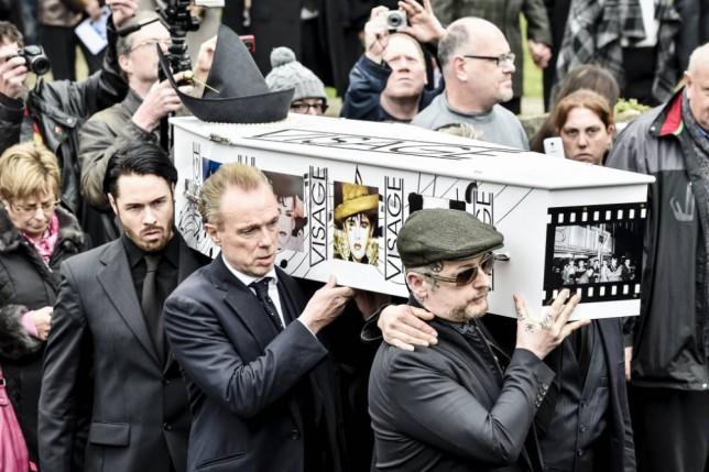 Steve Strange funeral: Gary Kemp, Boy George and Martin Kemp among pallbearers as Visage singer laid to rest