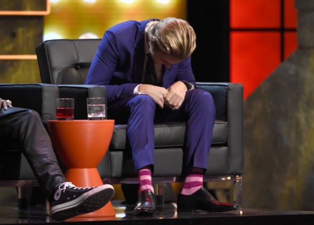 Justin Bieber reacts during the Comedy Central Roast of Justin Bieber at Sony Pictures Studios on Saturday, March 14, 2015, in Culver City, Calif. (Photo by Chris Pizzello/Invision/AP)
