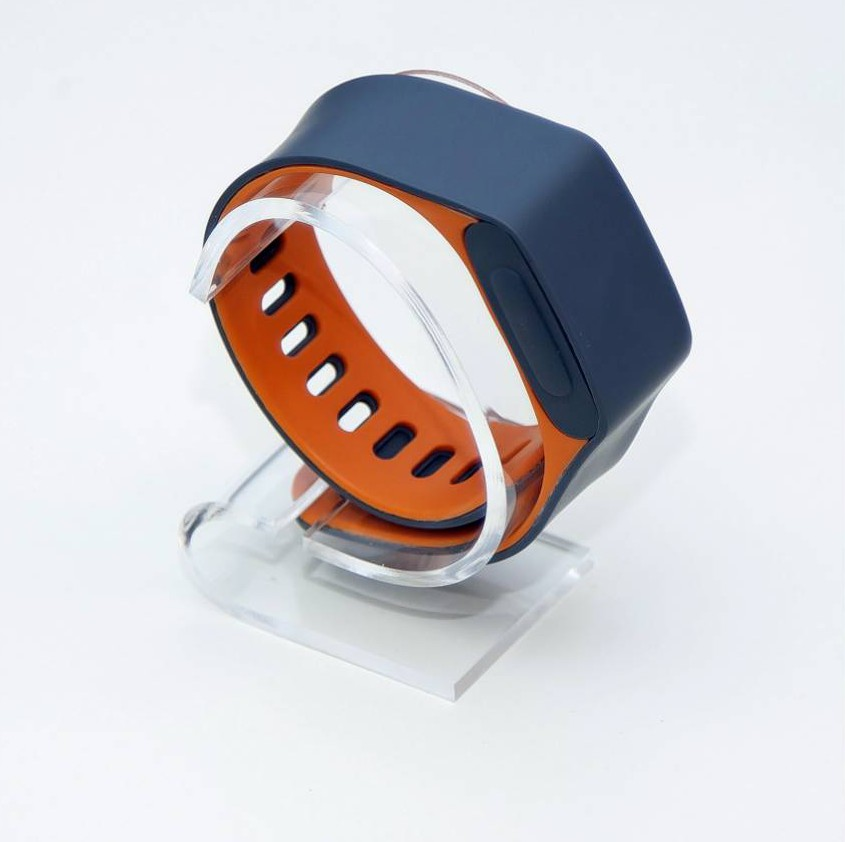 """A piece of wearable technology has been developed that will continuously check if you are alive and informs your relatives if you fall.  The Assure, made by British company Acticheck, looks like a watch and monitors the wearer's temperature and movements. It also does an """"end to end check"""" every 15 minutes. This checks the users vital signs to make sure they are all within normal levels.  Founder of Acticheck, Karl Gibbs, 48, from Saffron Walden, Essex, developed the Assure smart-band when his mother felt vulnerable.  SEE OUR COPY FOR DETAILS. Pictured:  The Acticheck. © Solent News & Photo Agency UK +44 (0) 2380 458800"""