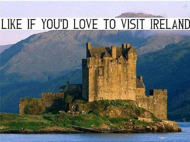 Scottish castle used in holiday adverts… for Ireland