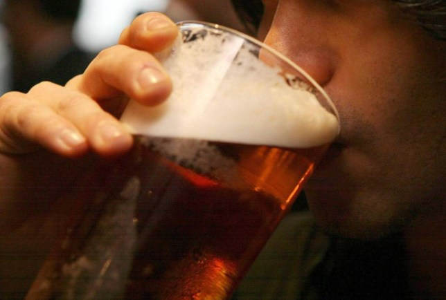"File photo dated 01/12/06 of a man drinking a pint of beer as drinking three alcoholic drinks a day can cause liver cancer, research has suggested. PRESS ASSOCIATION Photo. Issue date: Wednesday March 25, 2015. Being overweight or obese and consuming foods contaminated by aflatoxins (toxins produced by certain fungi) also showed ""strong evidence"" of causing the disease, the World Cancer Research Fund said. Its research, which analysed 34 studies involving 8.2 million people, more than 24,500 of whom had liver cancer, also suggested higher consumption of coffee ""probably"" protects against liver cancer, while physical activity and fish consumption may also decrease the risk although further research is needed. Aflatoxins are produced by inappropriate storage of food and are generally an issue related to foods from warmer regions of the world. Foods that may be affected include cereals, spices, peanuts, pistachios, Brazil nuts, chillies, black pepper, dried fruit and figs. See PA story HEALTH Liver. Photo credit should read: Johnny Green/PA Wire"