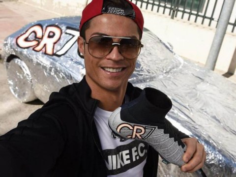 Cristiano Ronaldo covers Portugal teammate Ricardo Quaresma's car in tin foil to match his CR7 boots