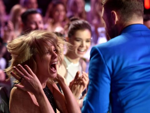 Justin Timberlake pretends to nab Taylor Swift's iHeartRadio Music Award – she pees her pants in hysterics
