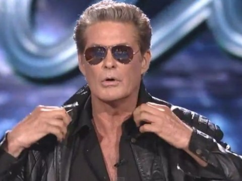 David Hasselhoff's 80s medley has to be seen to be believed