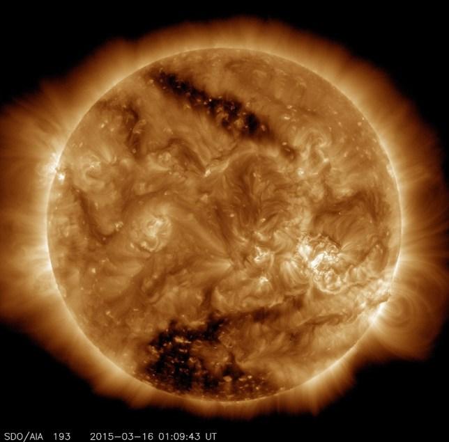 Nasa sun spot