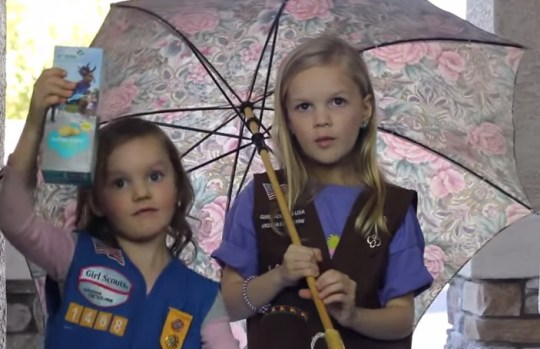 Kaylee and Lexi Girl Scout Blank Space Parody