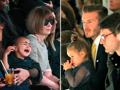 Paris Fashion Week 2015: Will Harper Beckham and North West be BANNED from the front row by Anna Wintour?