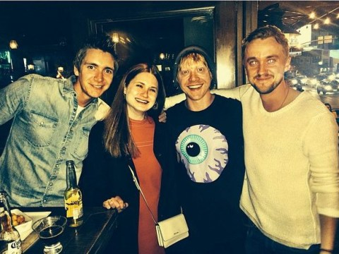 Tom Felton met up with the Weasleys for an epic Harry Potter reunion
