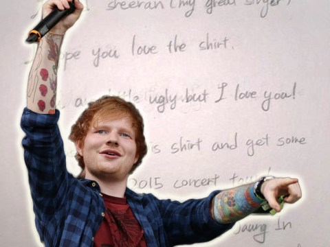 Ed Sheeran shares insulting note from fan: 'You are little ugly but I love you!'