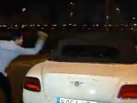 Transfer looming? Angry Real Madrid fans punch and kick Gareth Bale's car after El Clasico defeat to Barcelona